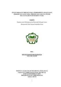 Inventarisasi Tumbuhan Paku Pteridophyta Di Kawasan Perkebunan Sawit Desa Trinsing Kecamatan Teweh Selatan Kabupaten Barito Utara Digital Library Iain Palangka Raya