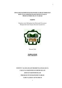 Pengaruh Kompetensi Ekonomi Syariah Terhadap Keputusan