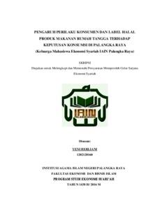 Pengaruh Perilaku Konsumen Dan Label Halal Produk Makanan Rumah